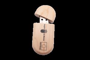 Clé USB personnalisé bois arrondi