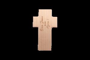 clé USB personnalisé bois Croix