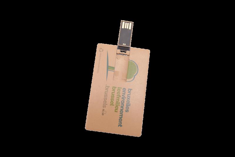 clé usb carte de credit recyclé